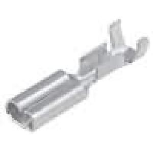 Konektor plochý 2,8mm 0,5mm zásuvka 0,3-0,5mm2 krimpovací