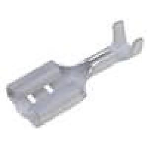 Konektor plochý 6,3mm 0,8mm zásuvka 0,5-1,5mm2 krimpovací