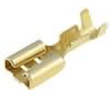 Konektor plochý 6,3mm 0,5mm zásuvka 0,5-1,5mm2 krimpovací