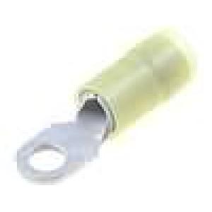 Zakončovací očko M4 2,5-6mm2 izolovaná pocínovaný měď 500ks