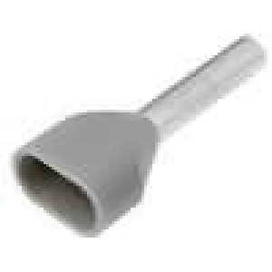 Trubičková koncovka izolovaná, dvojité měď 0,75mm2 8mm 105°C