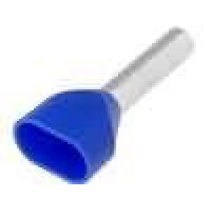 Trubičková koncovka izolovaná, dvojité měď 2,5mm2 12mm 105°C