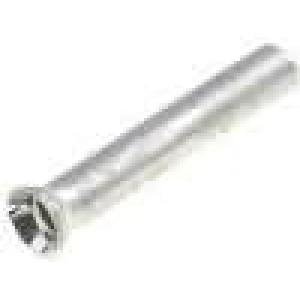 Trubičková koncovka neizolované měď 0,5mm2 8mm pocínovaný