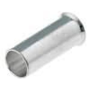 Trubičková koncovka neizolované měď 6mm2 10mm pocínovaný