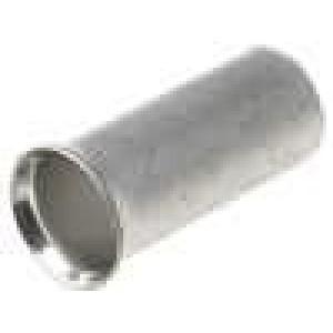 Trubičková koncovka neizolované měď 10mm2 12mm pocínovaný