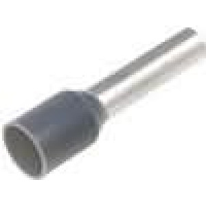 Trubičková koncovka izolovaná měď Izolace polyamid 4mm2 12mm
