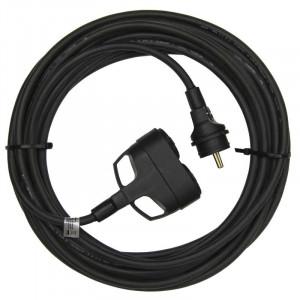 1f prodlužovací kabel 5m 3x1,5mm 2 zásuvky