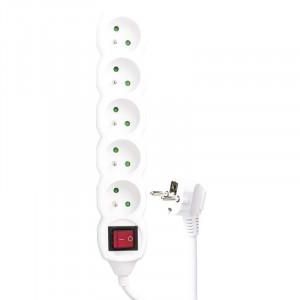 Prodlužovací kabel 5m 3x1,5mm 5 zásuvek + vypínač
