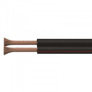 Dvojlinka ECO 2x0,75mm, černo/rudá, metráž