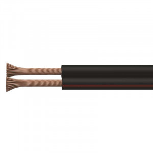 Dvojlinka ECO 2x1,0mm, černo/rudá,