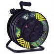 Gumový prodlužovací kabel na bubnu - 4 zásuvky 25m