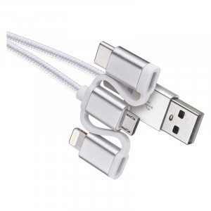 USB kabel micro B,C, i16P, 1m