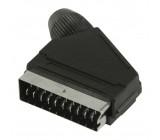 Konektor SCART, zástrčka SCART, černý