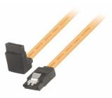 Datový kabel SATA, 6 Gb/s, 7-pinová zásuvka SATA se zámkem - 7-pinová zásuvka SATA se zámkem, úhlová 270°, 0,50 m, žlutý