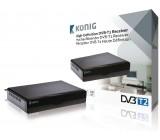 DVB-T2 přijímač s vysokým rozlišením, černý