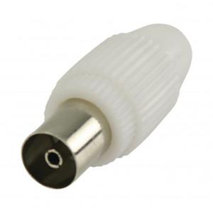 Koaxiální konektory, koaxiální zásuvka, bílá 2 ks