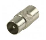 Koaxiální spojka, koaxiální zástrčka – koaxiální zásuvka, kovová
