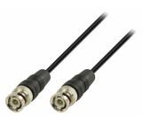 BNC kabel s konektory BNC zástrčka –BNC zástrčka 1,00 m, černý