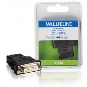 Redukce HDMI – DVI zásuvka, černá