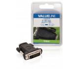 Redukce DVI zástrčka - HDMI vstup, černá