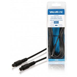 Digitální audio kabel Toslink, zástrčka Toslink - zástrčka Toslink, 5,00 m, černý