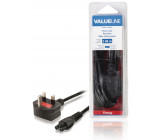 Napájecí kabel se zástrčkou UK a konektorem IEC-320-C5, délka 2 m, černý