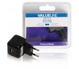 AC nabíječka, USB A zásuvka – AC zásuvka do sítě, černá 2.1A