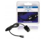 Nabíječka do automobilu, micro USB – 12 V konektor do automobilu, 1,00 m, černá 2.1A
