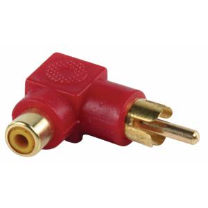 Redukce RCA zástrčka úhlová - RCA zásuvka (GOLD)