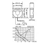 Ventilátor 60x60x25mm 12v= - sunon