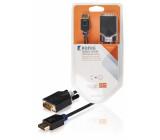 DisplayPort–DVI kabel, DisplayPort zástrčka – DVI-D zástrčka, 2 m, šedý