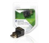 HDMI™ adaptér úhlový 90°, HDMI™ konektor – HDMI™ vstup, 1 ks, šedý
