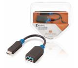 USB 3.0 redukční kabel, C zástrčka – A zásuvka, 0,2 m, šedý