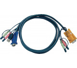 Kombinovaný kabel KVM VGA/USB/Audio speciální 3 m