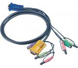 Kombinovaný kabel KVM VGA/PS/2/Audio speciální 3 m