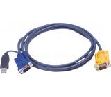 Kombinovaný kabel KVM VGA/USB speciální 3 m