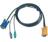 Kombinovaný kabel KVM VGA/PS/2 speciální 10 m