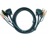Kombinovaný kabel KVM DVI-D/USB/Audio