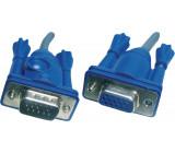 Kabel k monitoru VGA m - f 6 m Šedá