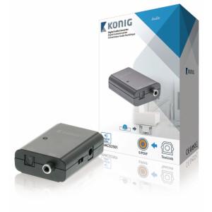 Digitální audio převodník, TosLink zásuvka – S/PDIF zásuvka, tmavě šedá