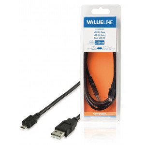 USB 2.0 Cable A Male - Micro B Male