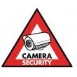 """Nálepka """"bezpečnostní kamera"""" 123 x 148 mm"""