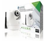 IP P2P kamera s náklonem a otáčením pro vzdálené sledování, bílá