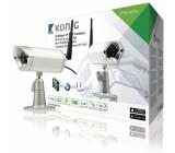 Venkovní IP P2P kamera pro vzdálené sledování, IP66, černá