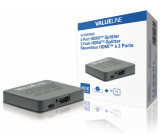 2portový HDMI rozbočovač, HDMI vstupní port – 2x HDMI výstupní port, černý