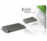 HDMI maticový přepínač z2 na 4porty, 2x HDMI vstup – 4x HDMI výstup, tmavě šedý