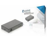 4portový digitální audio rozbočovač Toslink, zásuvka – 4x zásuvka, tmavě šedý