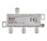 3cestný rozbočovač CATV F, 5 – 1 218 MHz
