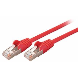 SF/UTP CAT5e síťový kabel zástrčka – zástrčka 15.0 m červený