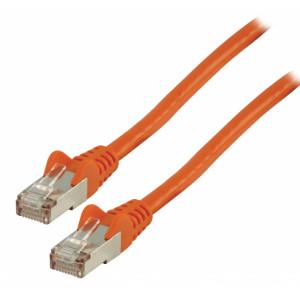Patch kabel FTP CAT 6, 0,25 m, oranžový